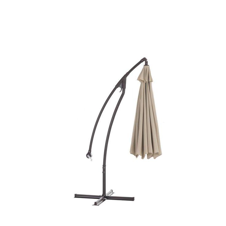 Sunjoy Lisa 10 ft. Aluminum Cantilever Patio Umbrella in Beige