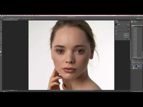 Глянцевая ретушь / Идеальная кожа в Photoshop - YouTube