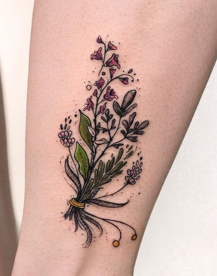 Floral Bouquet Back Tattoo: 332 Best Flower Tattoos Images On Pinterest
