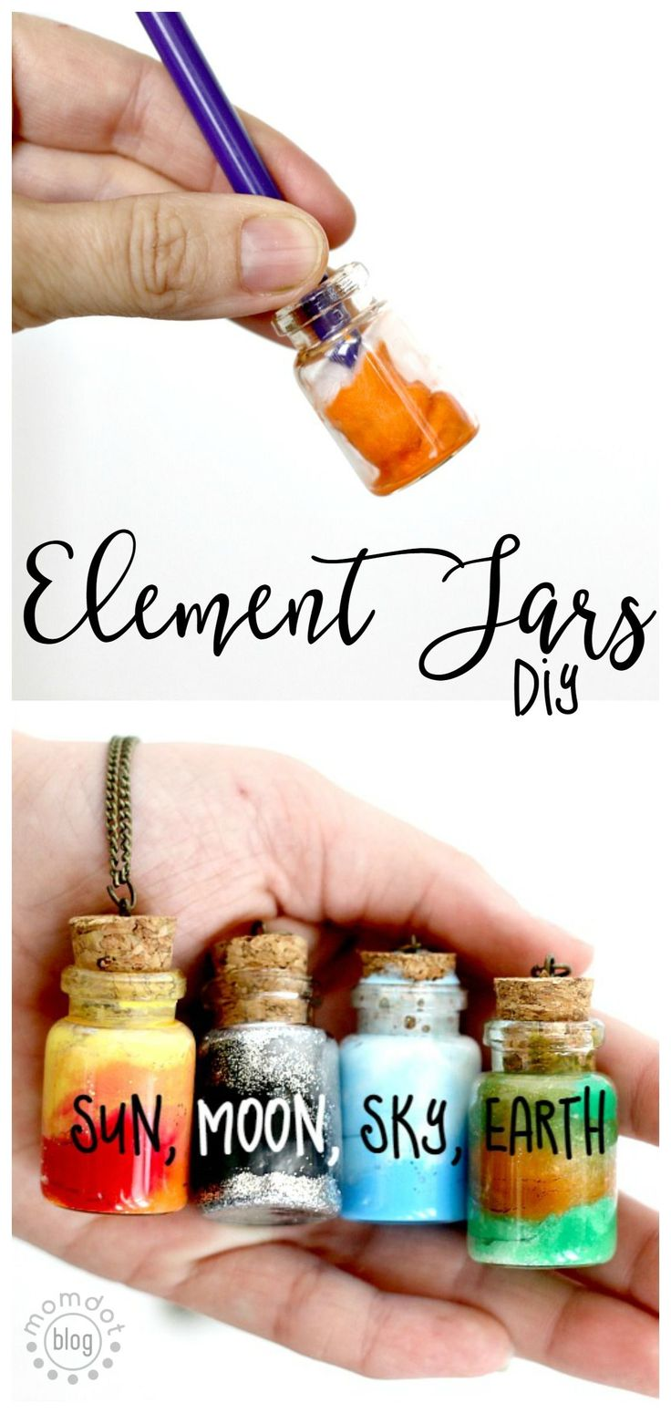 DIY Craft: Element Jars: Create Sun, Moon, Earth, and Sky in these fun DIY Element Jar Necklaces Tutorial, picture instructions, Nebula Jar