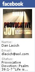 "Provocative Devotion: Psalm 38:1-9 & 21-22 ""The Failure of Self-Esteem"" | Provocative Christian Living"