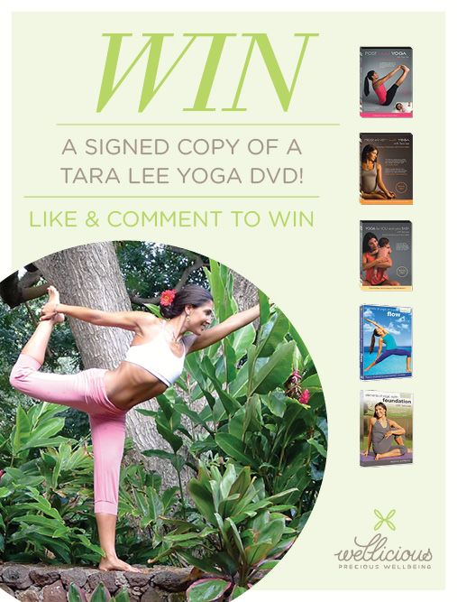 We are giving away 5signed DVD's of our London-based and internationally known Ambassador Tara Lee to lucky winners! Tara has signed pre- and post natal DVD's for you. View the DVDs:http://www.wellicious.com/yoga-books-yoga-dvds-1.html  https://www.facebook.com/notes/wellicious/wellicious-tara-lee-yoga-dvd-competition-httpswwwfacebookcomwellicious/10152491673483836