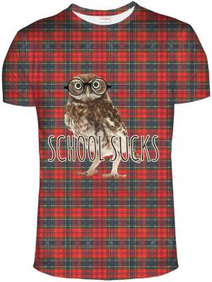 SCHOOL SUCKS Koszulka Tshirt Full Print