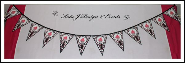 Pennant Banner #Pink #Leopard #Animal #Print #Baby #Shower #1st #Princess #Birthday #Bunting #Party #Ideas #Decorations #Ideas #Banners #Cupcakes #WallDisplay #PopTop #JuiceLabels #PartyBags #Invites #KatieJDesignAndEvents #Personalised #Creative