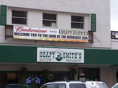 Soapy Smith's Soap Box: Soapy Smith's Pioneer Restaurant. A must visit. Their King Crab Burgers are legendary!