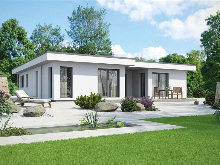 Die besten 25 fertighaus bungalow ideen auf pinterest for Minimalistisches haus grundriss