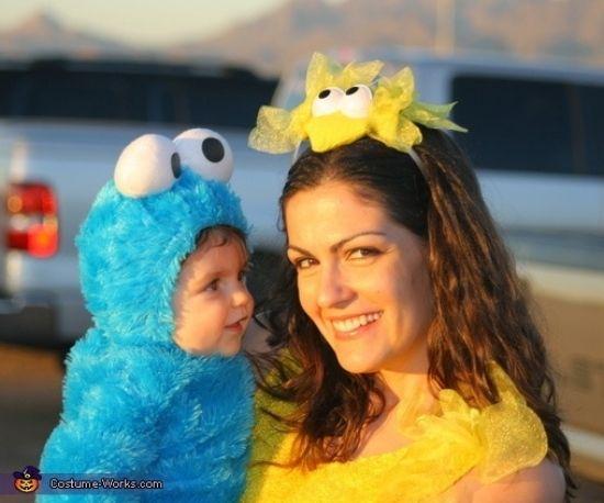 Fasching Ideen Karneval Kostüme baby als cookie monster
