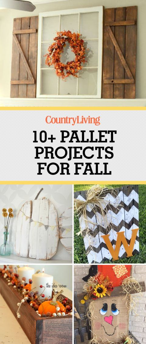 Nailing farmhouse style this fall season just got easier with these autumn-themed pallet projects. Instead of just pumpkins, decorate your mantel with barn wood shutters to give it a rustic look.