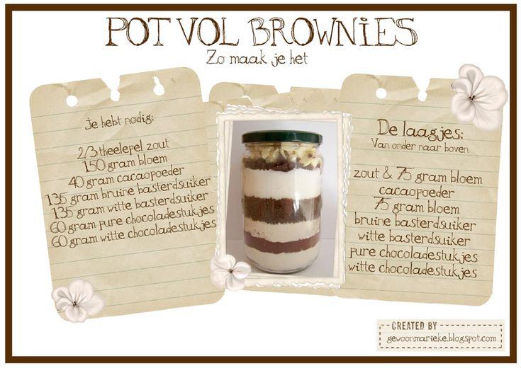 Een pot voor brownies of koekjes, DIY!!