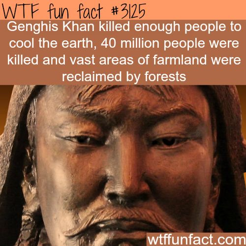 Genghis Khan, killed this much people -  WTF fun facts