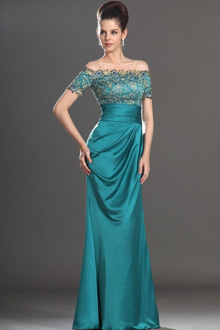 2014 New Arrival Mother Of Bridal Gown Mermaid Off The Shoulder Floor Length Elastic Satin Under 200 for sale
