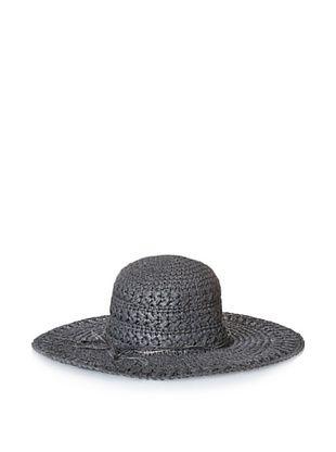 53% OFF August Accessories Women's Crochet Floppy Hat, Black