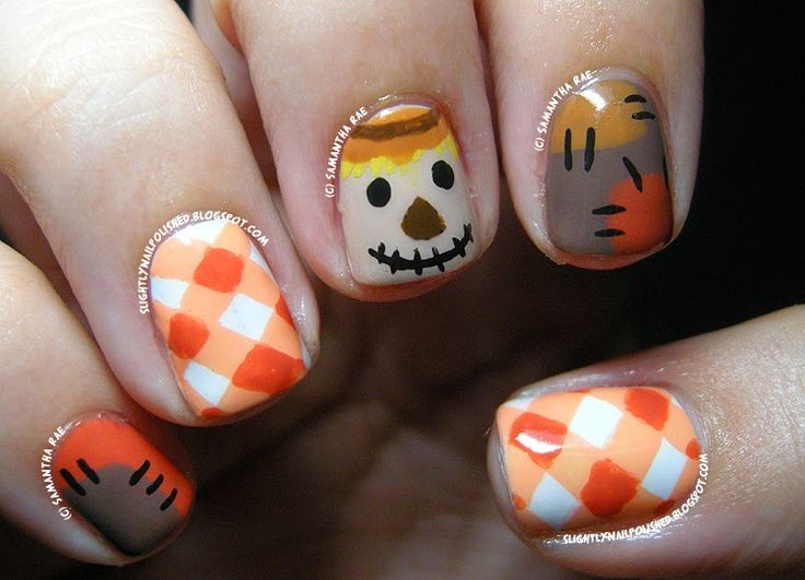 scarecrow fall nail art