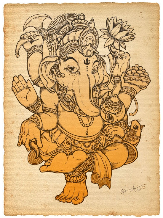 Ganesha by Bayu A. Wiguna, via Behance