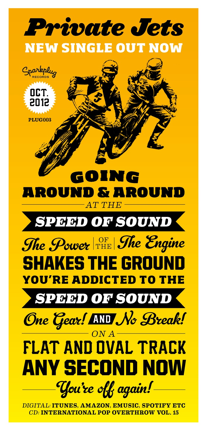 "Flyer for Private Jets track ""Speed Of Sound""."