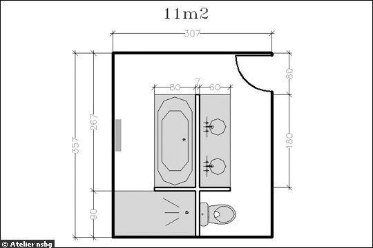 Surface de 11m² : le plein d'espace