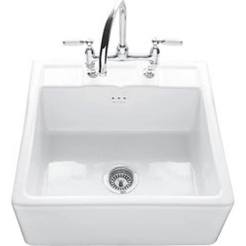 belfast sink with two tap holes