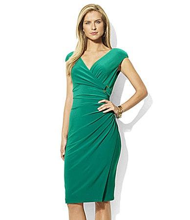 Lauren Ralph Lauren Surplice CapSleeved Dress #Dillards