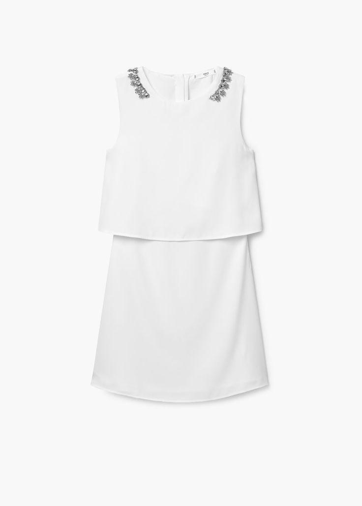 40€ Vestido abalorios hombros | MANGO