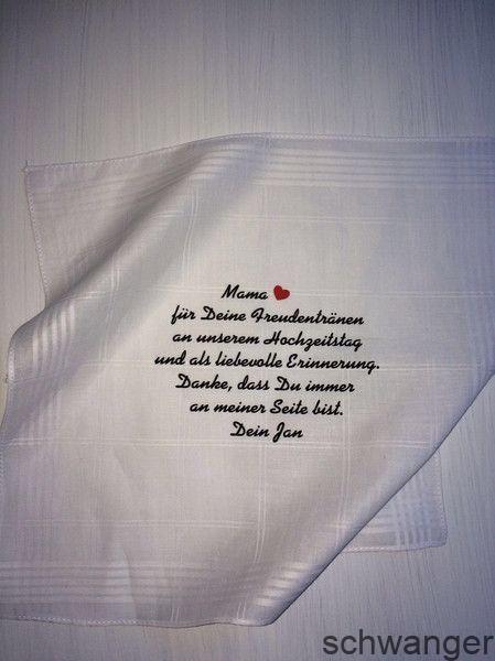 Gastgeschenke – Taschentuch Hochzeit Freudentränen – ein Designerstück von tho… – Schwangerschaft bekanntgabe