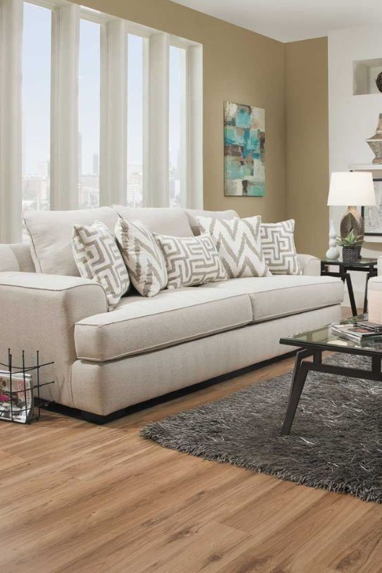 The Mallory Oatmeal Sofa By Corinthian Fine Furniture Sets The Tone For  Plenty Of Style And Comfort. Rounded Track Arms And T Cushions Keep Things  Simple, ...