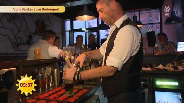 Vom Banker zum Barkeeper - Frühstücksfernsehen - Sat.1