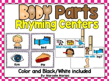 This package offers Rhyming literacy center activities that are theme based and relate to a MY BODY or BODY PARTS theme.  The tools in this pack connect literacy with MY BODY or BODY PARTS and students use pictures of body parts to rhyme with other objects.
