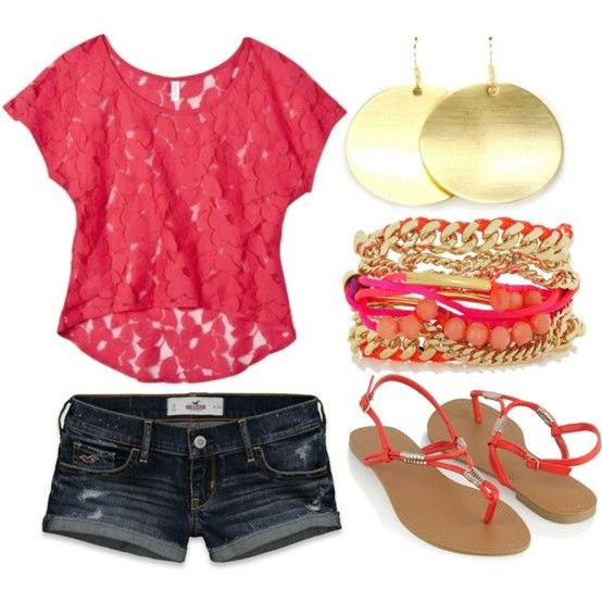 Summer!: Summer Fashion, Summeroutfit, Lace Tops, Summer Looks, Dreams Closet, Cute Summer Outfit, Summer Color, Cute Outfit, Summer Clothing