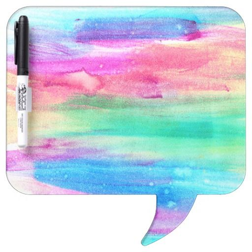 Neon Rainbow Abstract Watercolor Stripes Dry-Erase Whiteboards