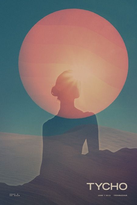 Tour poster for Tycho at the Troubadoour in LA on June 1, 2012 . I'm really excited for this show.