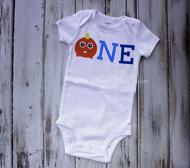 Monster First Birthday Onesie- Monster- Personalized- First Birthday Outfit- 1st Birthday- Monsters Inc Birthday- One Oneise- Photo Prop by MySweetPeaCouture on Etsy