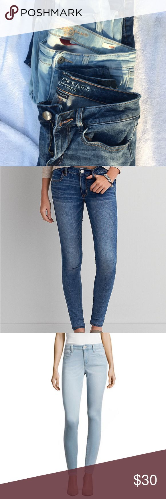 3 Pair Of Size 3 Jeans American Eagle Anne Taylor 3 pair of jeans for a great price Arizona Jeggings Light in color size 3 American Eagle Jeggings 360 Super Stretch Size 3 Anne Taylor Modern Fit Lindsay waist Size 2 American Eagle Outfitters Jeans