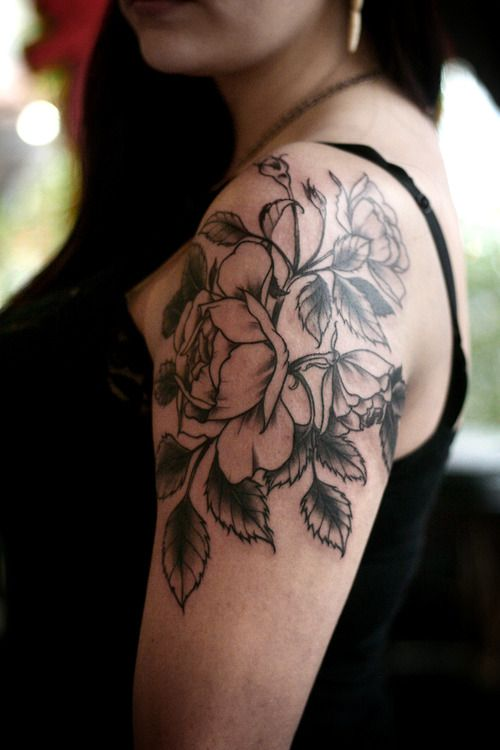 Shape/flow like this - not just a flower slapped on my shoulder
