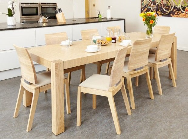 The Olten Light Oak Dining Table And Matching Chairs Would Make A Stunning  Addition To Any Kitchen Or Dining Room. The Wood Is Oiled To Highlight The  Deep ...