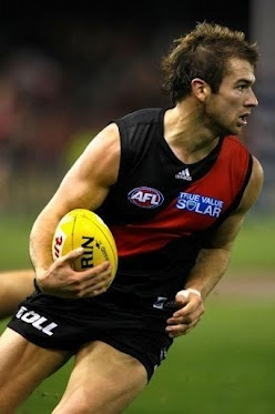 Round 6 - Essendon vs Brisbane  Stewart Crameri with 4-goals in the first quarter.  (Photo: AFL Media) — at Etihad Stadium.  #afl #essendonfc