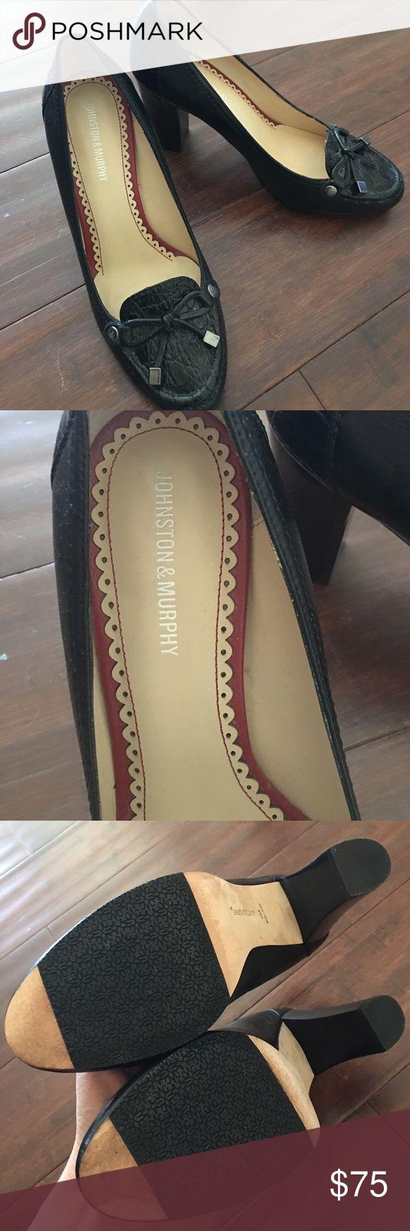Johnston & Murphy loafer/ heels! Leather - lovely! Like new!!! Johnston & Murphy loafer/ heels! Leather - lovely! Johnston & Murphy Shoes Heels