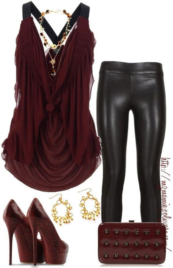 Zoe Leather Look Leggings – Black RESTOCKED