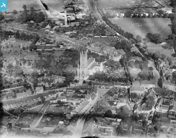 St Mary's Church and environs, Andover, 1928