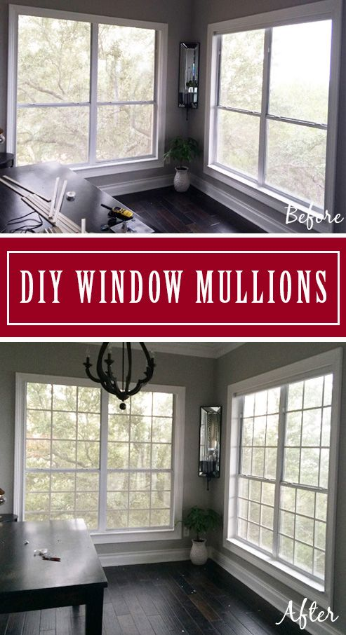 DIY Window Grids. Make Your Own Window Grids (Grilles, Mullions) for less than $10/window.