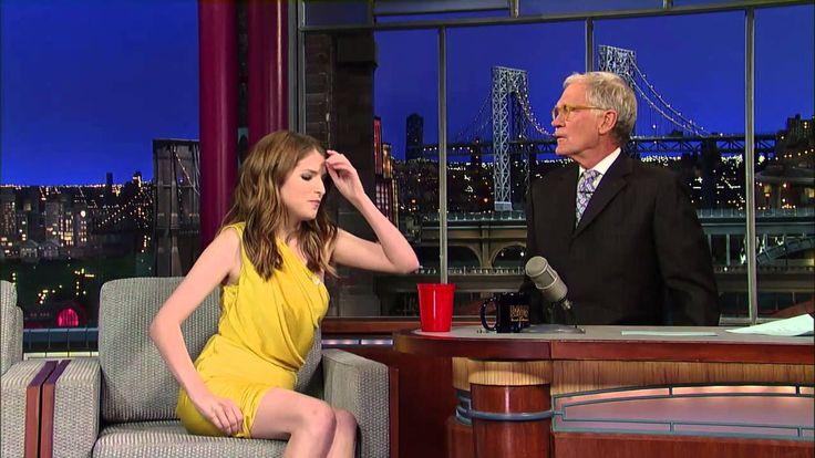 David Letterman - Anna Kendrick's Song and Cup Trick