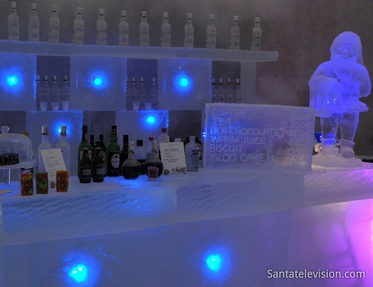 Ice bar of Snowman World in Santa Claus Village