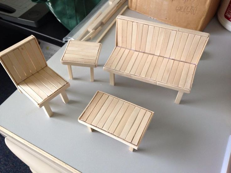Popsicle doll furniture