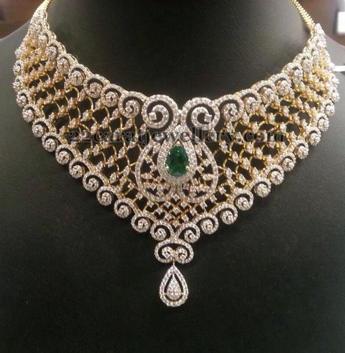 8 Lakhs Diamond Bridal Sets by PSJ
