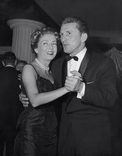 Anne Buydens & Kirk Douglas on their wedding day - 29 May 1954