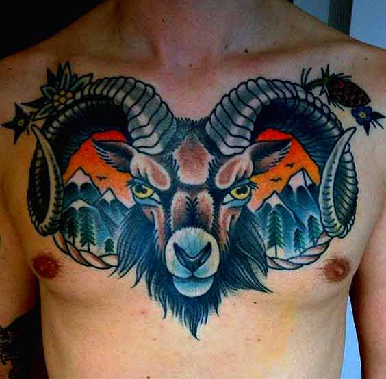 c969a96742719 50 Best Aries Tattoos Designs And Ideas With Meanings | Aries | Ram ...