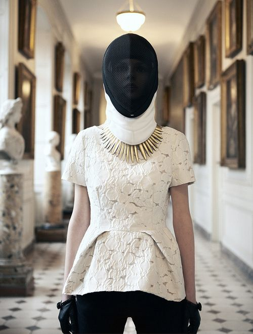 mask bib and necklace