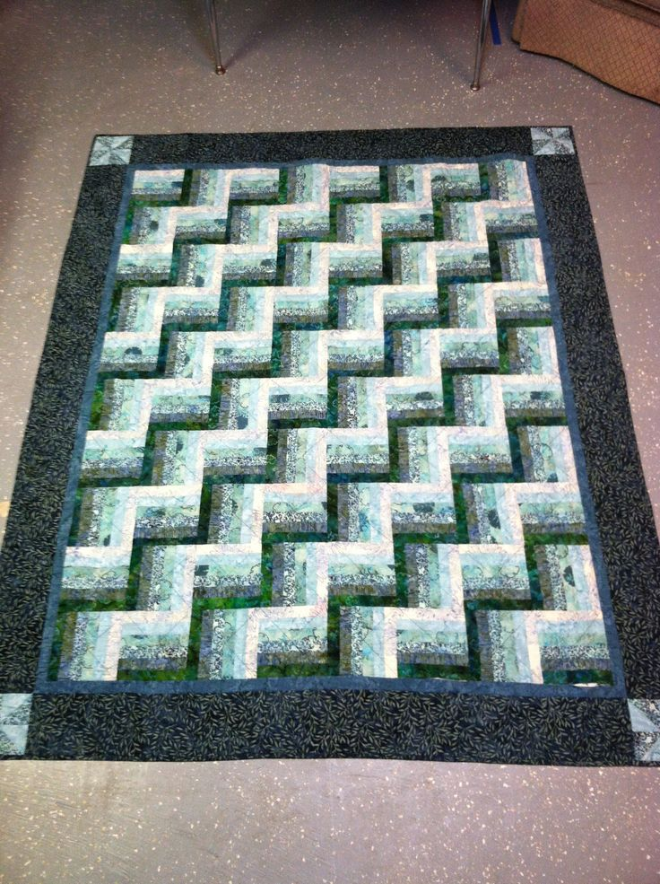 Split rail fence quilt | Sewing and quilting | Pinterest