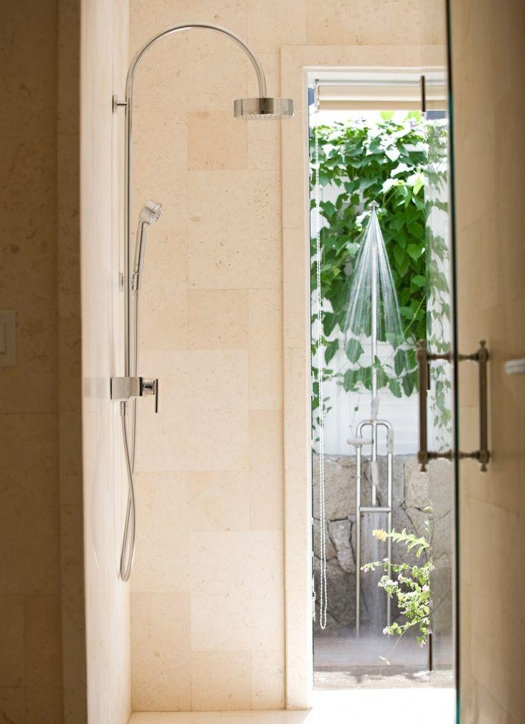 Shower with exterior door compact 3 4 bath pinterest for Bathroom design 4 x 6