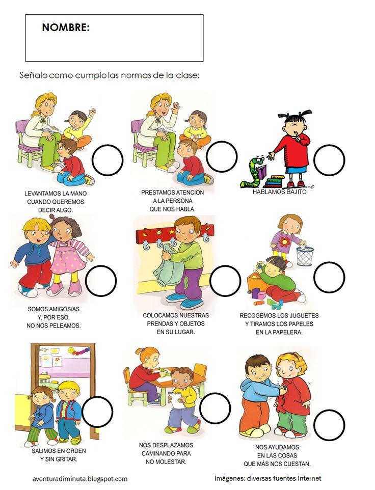 AVENTURA DIMINUTA: LAS NORMAS EN EDUCACIÓN INFANTIL: RECURSOS Y ACTIVIDADES PARA LA CLASE Y PARA CASA
