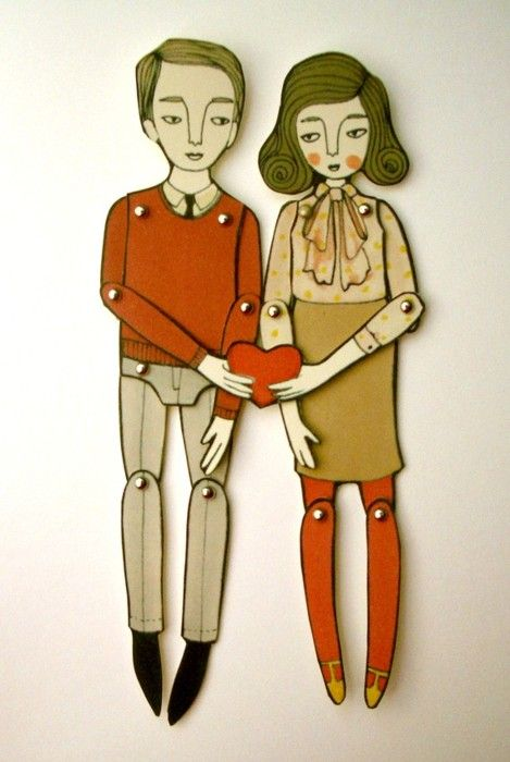 miniature moveable paper dolls